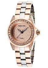 New Women's Invicta 16008 Angel Swiss Pave Dial Two Tone Stainless Steel Watch