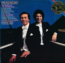 Anthony & Joseph Paratore Mussorgsky Pictures for 2 Pianos CBS 42017 LP PROMO