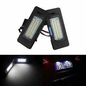 2x LED Kennzeichenbeleuchtung Leuchte Für VW Passat B6 Porsche Skoda Audi Weiss