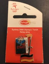 Sydney 2000 Olympic Torch Relay Pin - on a backing board-1936 Berlin German Flag