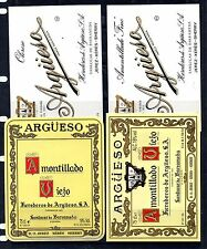 Etiquetas de Vinos de Argueso en Sanlucar de Barrameda (CX-615)