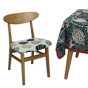 Stretch Printed Dining Chair Seat Covers Cushion Slipcover Wedding Banquet Decor