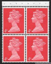 GB 1967/70  4d Pre-Dec Machin Booklet Pane of 4, 733/UB15. PT I. MNH