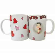 Betty Boop 12 oz Ceramic Spinner Coffee Mug - Hearts