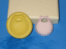 Baby Bib Push Mold Food Safe Silicone A289 Fondant Cake Chocolate Baby Shower