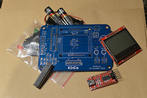 Kitco Océan - Kit electronique Arduino Console jeu video Atmega Souder Bleu