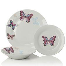 Sabichi Mariposa 12pc Porcelain Colourful Butterfly Print  Dinner Set - 179203