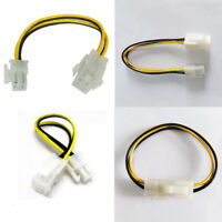 10Pcs  ATX Male to 4Pin Female PC CPU Power Supply Extension Cable Cord Adapter