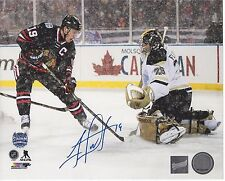 Autographed hockey 8x10 photo Jonathan Toews, Chicago Blackhawks Winter Classic