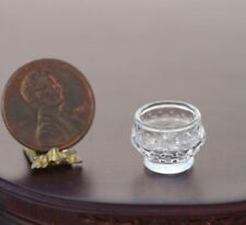 Dollhouse Miniature Artisan Pressed Clear Glass Sugar Bowl by Phil Grenyer