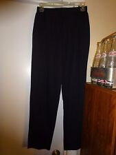 Ladies Size Small Black Elastic Waist Pants 2 Front Pockets Stretchy Casual