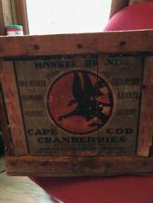 Cape Cod Cranberry Wooden Box Vintage 1900 Nice Condition Rare