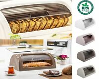 Bread Bin Box Kitchen Food Roll Top Storage Loaf Curved BPA Free Plastic 4 Color