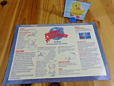 PLANET HOLLYWOOD Replacement Game Parts THE RULES SHEET Instructions Cardstock