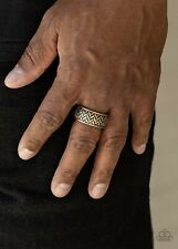 Paparazzi Jewelry Ring Survival Skill-Brass -Men Collection