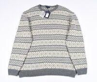 GANT W Baumwolle Alpaka Norwegen Herren Rundhals Sweatshirt Größe 3XL