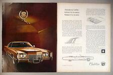 Cadillac Eldorado 2-Page PRINT AD - 1971