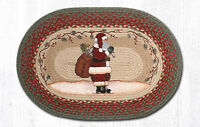 "SANTA Christmas 100% Natural Braided Jute Rug, 20"" x 30"", Capitol Earth Rugs"