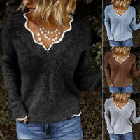 Winter Knitwear Tops Sweaters Fall Womens Fashion Casual Pullover Blouse Jumper