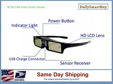 3D DLP  Active Shutter Glasses 96 - 144Hz for DLP-Link Projector
