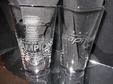 2018 STANLEY CUP CHAMPION WASHINGTON CAPITALS LOGO 2 ETCHED 16 OUNCE PUB GLASSES