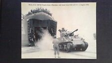 CPM French Army Sherman tank lands from USS LST 517