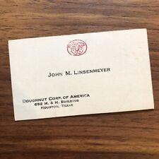 DOUGHNUT Corp Of AMERICA - Dounut Baking Vintage Business Card