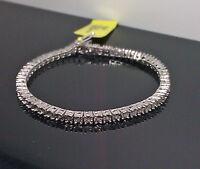 Ladies Diamond Tennis Bracelet White Gold Finish With Real Diamonds 7.5 inch