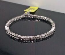 A Row Ladies White Gold Finish Bracelet With Diamonds