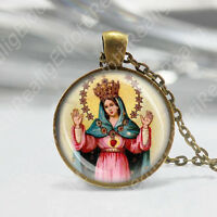 Our Lady Madonna of Liberation Libera Catholic Necklace Medal Pendant