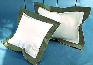 Border Reversible Pillow shams Set 1000TC Egyptian Cotton Solid All Size & Color