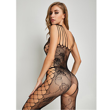 Sexy Outfit Body Fishnet Bodystocking Lingerie Night Dress Criss Cross Bodysuits