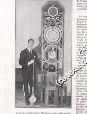 1932 Meccano , L'Horloge Astronmique Meccano et son constructeur Mr. Rahm
