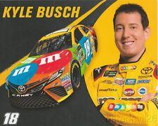 2017 Kyle Busch M&M's Toyota Camry NASCAR MENC postcard