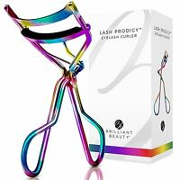 Brilliant Beauty Eyelash Curler w Satin Bag & Refill Pads Hot New Color - PRISM