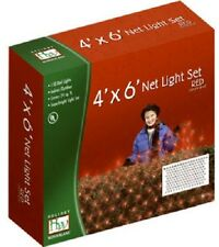 (2) Noma Holiday Wonderland 150 Light 4' x 6' Red Net Christmas Lights- 48953-88
