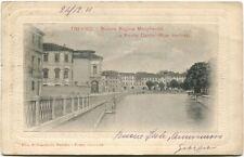 1911 Treviso Riviera Regina Margherita Ponte Dante Riva Destra Cremona FP B/N VG