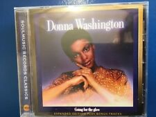 DONNA. WASHINGTON.        GOING  FOR. THE. GLOW.      COMPACT DISC.