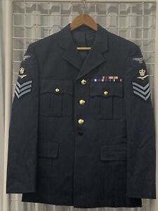 Royal Air Force RAF Issue No 1 Dress Tunic / Jacket 100S -  FSGT Rank - 5A5 204