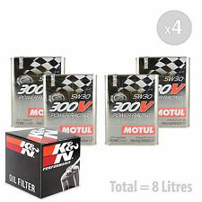 Engine Oil and Filter Service Kit 8 LITRES Motul 300V Power Racing 5W-30 8L