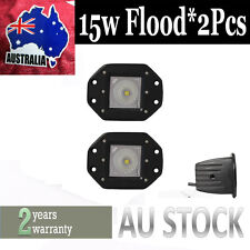 2x Flush Mount 15W CREE LED Pod Driving Lights For 4X4 Truck Jeep Off-Road ATV