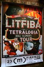 Litfiba Tetralogia degli elementi Tour Maxi Manifesto 150x100
