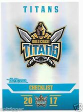 2017 NRL Traders Parallel Special (PS041) TITANS Check List