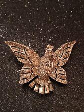 1941 TRIFARI  Pave Stone Fluttering Bird CLIPMATE Duette  Pin Alfred Phillippe