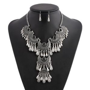 Fashion Bohemia Pendant Choker Chunky Chain Women Bib Necklace Statement Jewelry