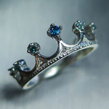 Blue Engagement Fine Diamond Rings