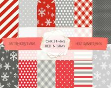 Christmas Pattern HTV & Adhesive Craft Vinyl | $15+ FREE SHIPPING