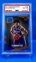 2017 De'Aaron Fox Rated Rookie #196 PSA 8