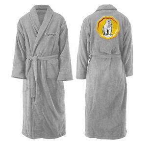 Bundaberg Rum Mens Grey Fleece Dressing Gown Bath Robe One Size New
