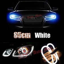 2pcs 85cm White Car Motorcycle Headlight Angel Eye Cob Decorative Lights DRL